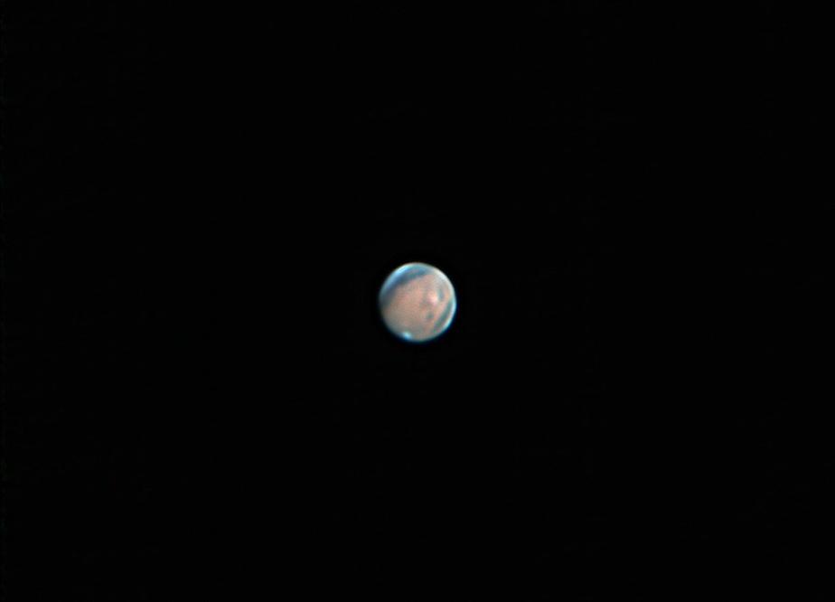 Mars taken from Mesa, AZ by Josh Borup