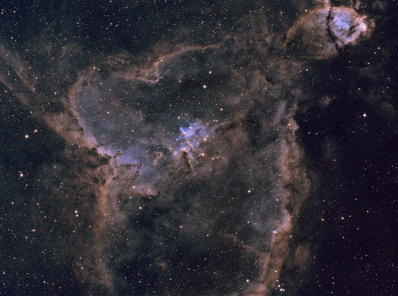 Heart Nebula in Narrowband by Josh Borup