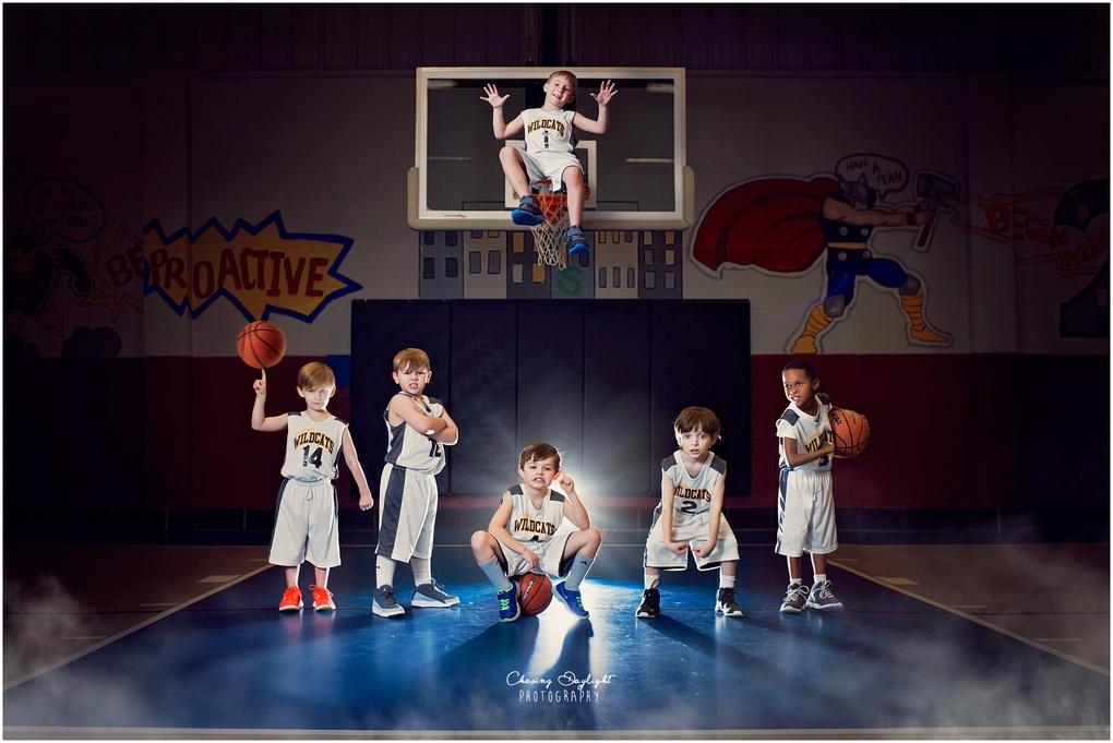 Basketball Champs by Amanda Campbell