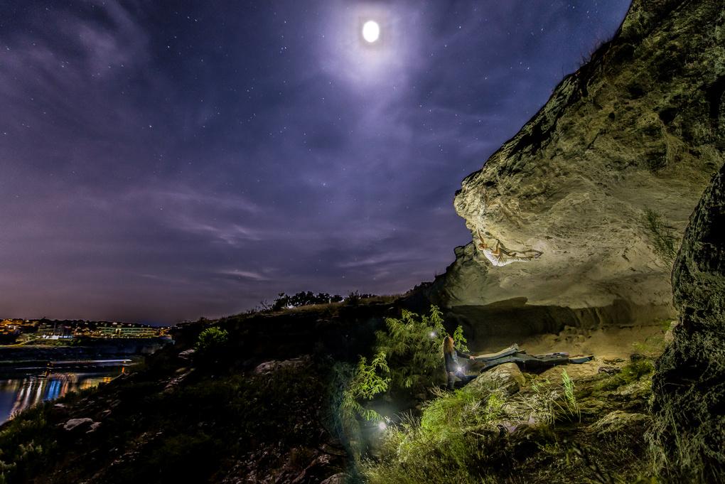 Climber Climbing Through the Night by Jacob Bodkin