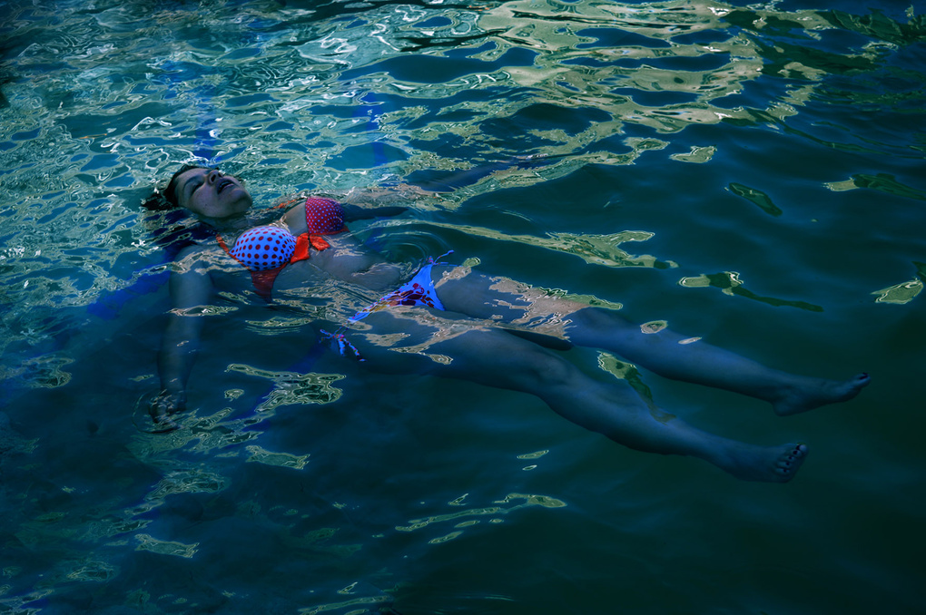 Nightime swim by Colin Fibiger