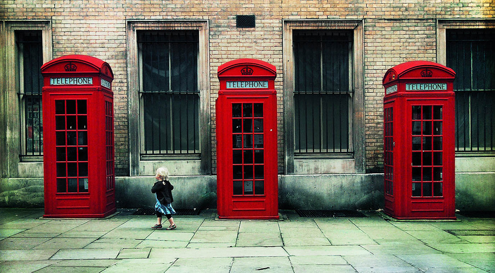 3 Red Telephone Boxes by Nicholas Goodden
