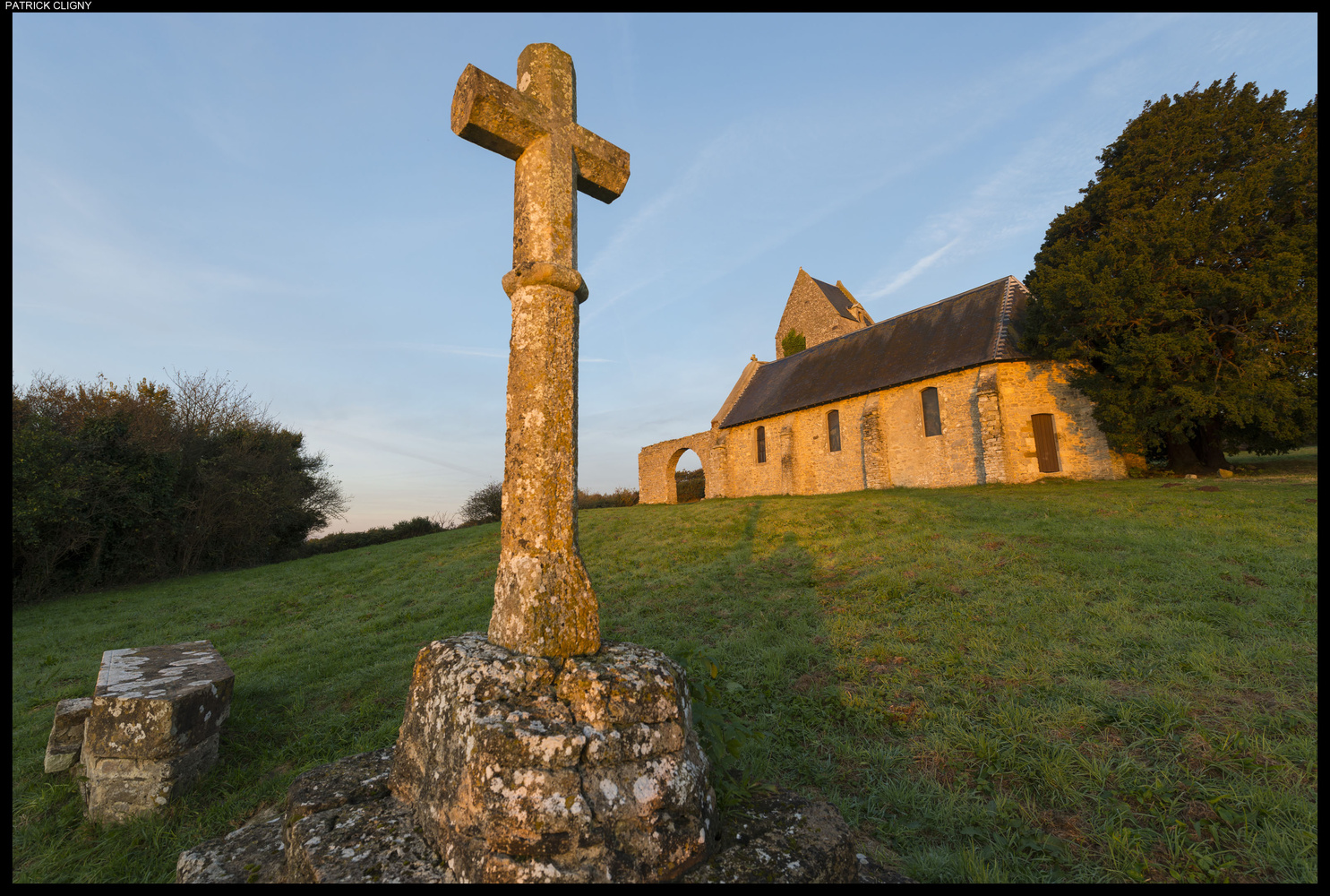 Chapel in Mont Doville, Normandy, France by Patrick CLIGNY