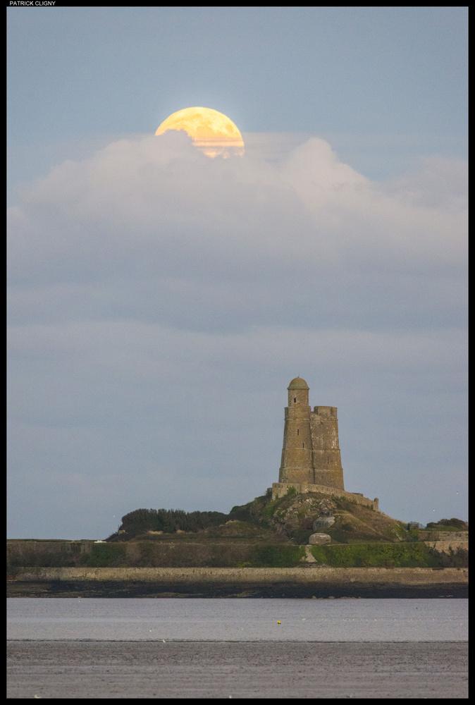Moonrise on Vauban Tower by Patrick CLIGNY