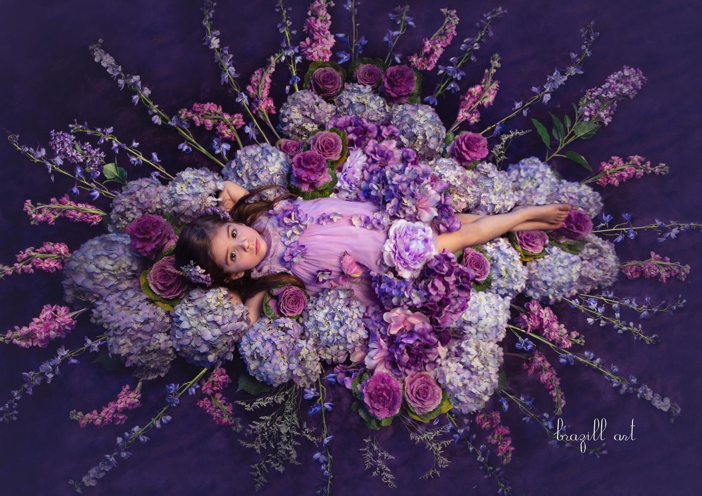 Purple Garden by Robin Brazill