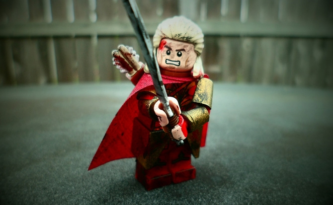 Lego Photographer's Samurai Portrait