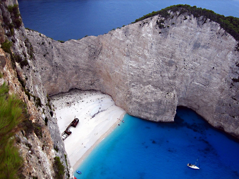 Famous Shipwreck on Zakynthos, Greece
