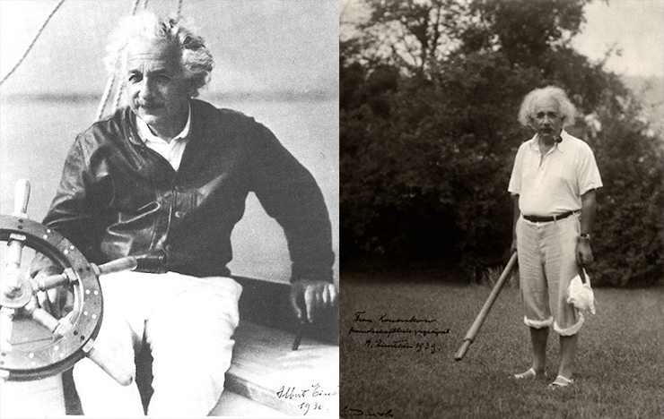 Rarely Seen Photos Of Albert Einstein In Casual Environments