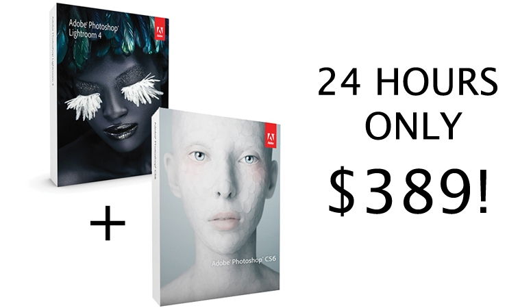 [Updated- It's Back!] Raging 24 Hour Deal: Photoshop CS6 + Lightroom 4 for $389
