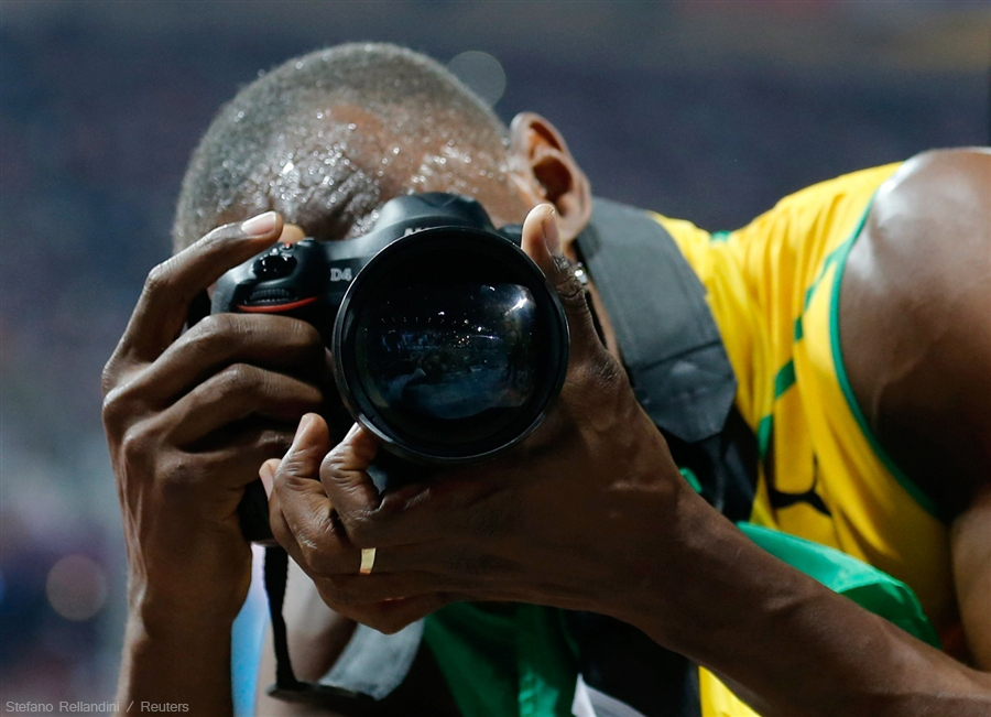Best Sprinter Of All Time Used a Nikon To Celebrate His Gold