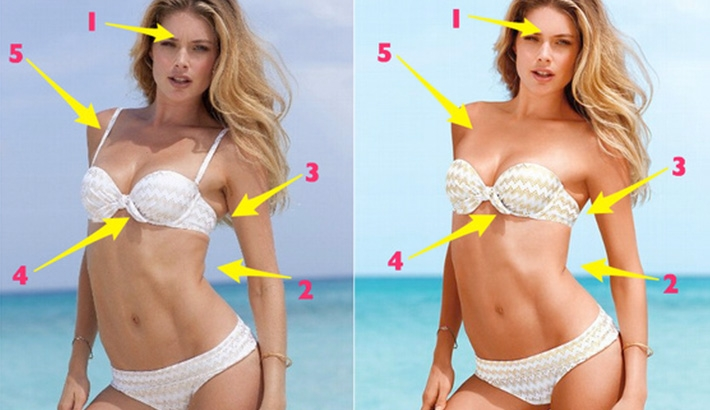 Victoria's Secret Revealed - Unretouched vs. Retouched Photos