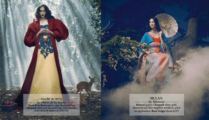 Disney Princesses Meet High Fashion For Harrods In London