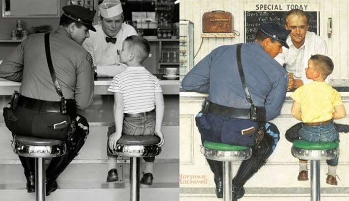 The Photographs That Inspired Norman Rockwell's Paintings
