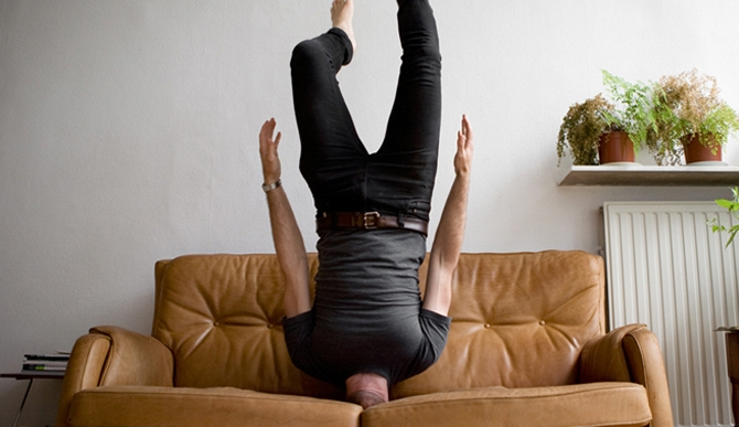 A Detest Of The Fashion Industry Makes Caulton Morris Take Self Portraits Doing A Headstand