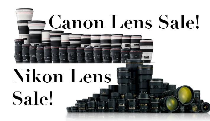 Huge Savings on Canon and Nikon Lenses!