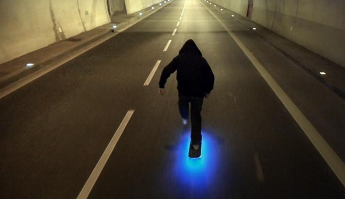 "Drone Camera Shoots Super Slick Skater Video ""Firefly"""