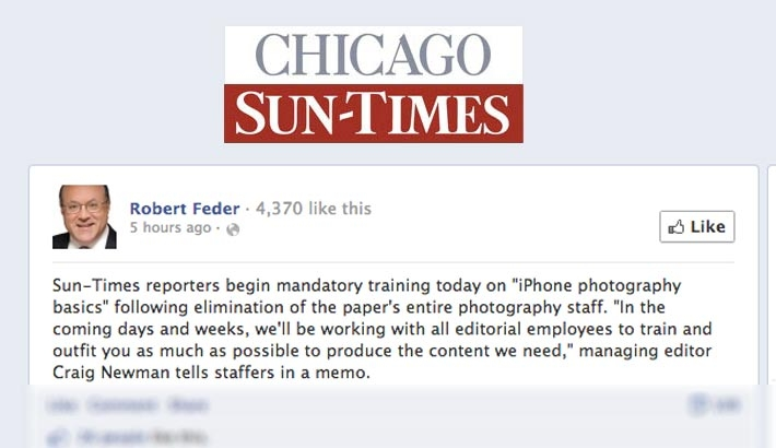 Chicago Sun-Times Starting Reporters On iPhone Photography Basics