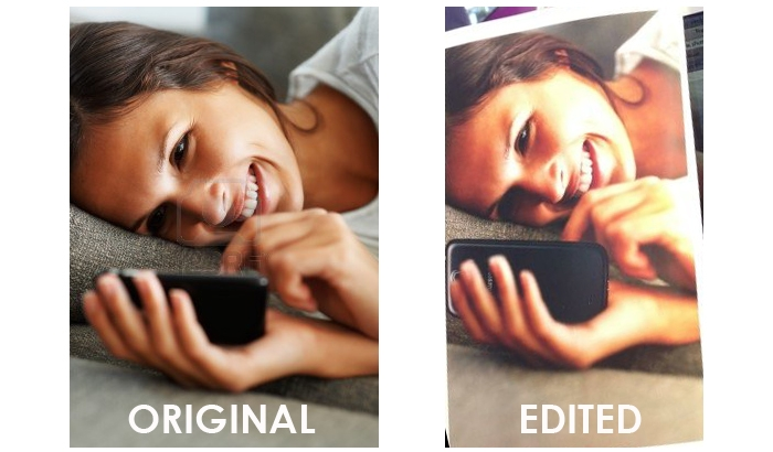 "Samsung ""Artfully"" Photoshops Galaxy S4 in Place of iPhone in a Stock Image"