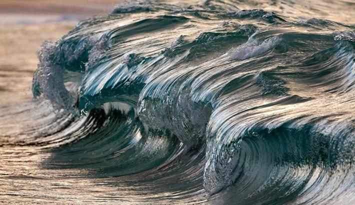 Beautifully Frozen Ocean Waves