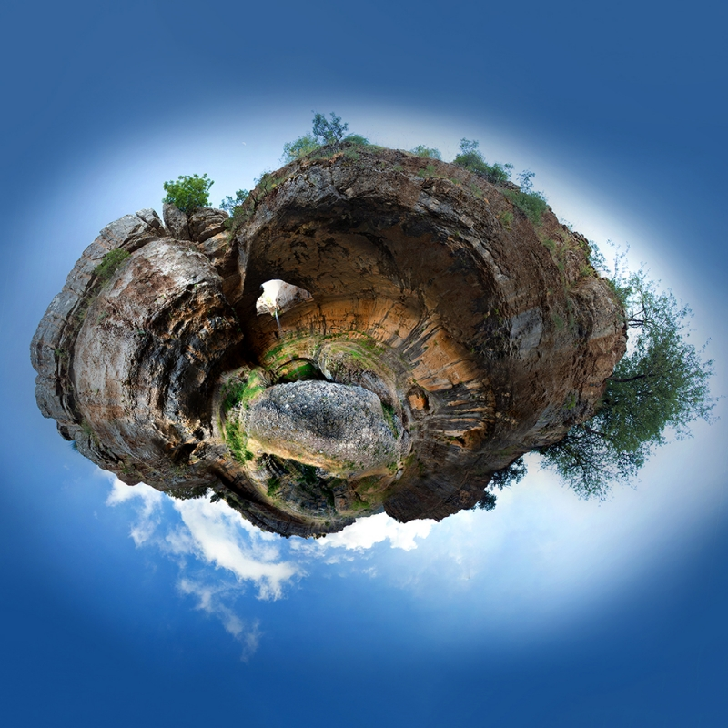 Baatara Pothole Stereographic Projection