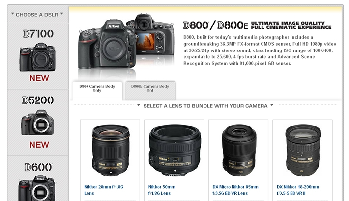 New Nikon DSLRs with Lens/Speedlight Combination Rebates