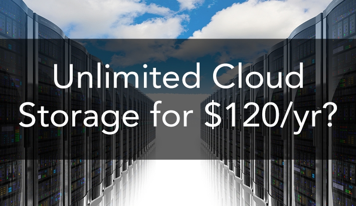 Unlimited Online Backup For $120 Per Year