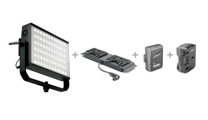 LitePanels Announces an On-Location Battery Solution for its Hilio Fixture