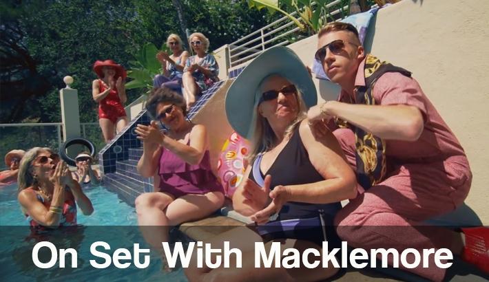 On Set With Macklemore and Sexy Grandmas