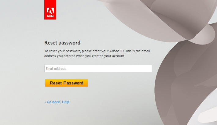 Here's The Link to Reset Your Adobe Password