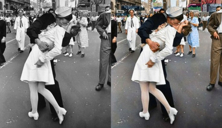 Famous B&W Photos Masterfully Brought To Life with Color