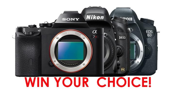 Win Your Choice of a Nikon D610, Canon 6D or Sony A7!
