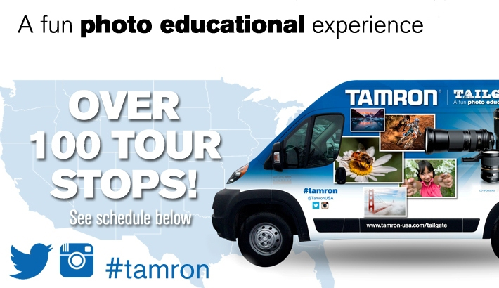 Tamron Will Embark on a Country-Wide Tailgate Tour in Spring 2014
