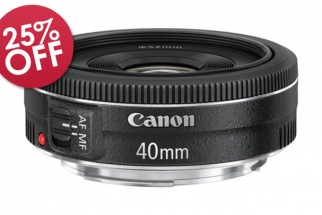 B&H Deal: 25% Off Canon EF 40mm f/2.8 Pancake Lens