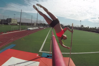 Allison Stokke Takes You for a Ride in Point of View Pole Vaulting Video