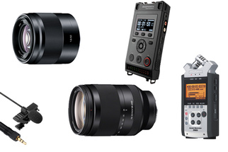 Special Holiday Deals on Sony Lenses, Audio Recorders, and Mics