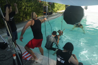 Portrait Photography In A Pool