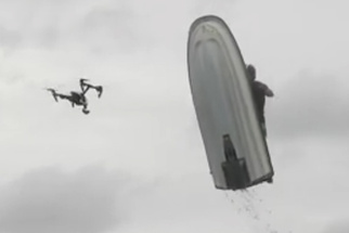 Jet Ski Destroys Drone in Dramatic Fashion