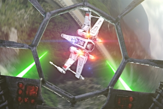 A Star Wars Dogfight Recreated Using Drones