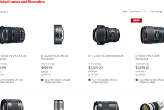 Canon Offering Limited Time Only 15 Percent Off Refurbished Lenses With Coupon Code