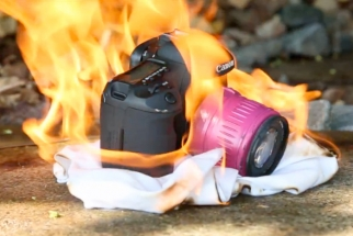 [Crazy] Canon 7D Frozen, Shot, And Set On Fire In Durability Test