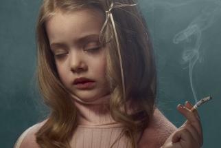 Smoking Kids Portraits by Frieke Janssens