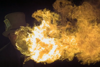 Slow Motion Video Of Fire Breathers Shot At 2,000 FPS