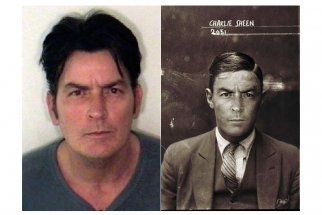 Contemporary Celebrity Mugshots Re-Appropriated in a 1920s Style