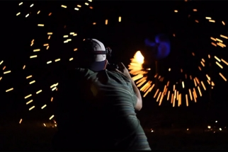 Crazy Motion Graphics Created By Burning Steel Wool