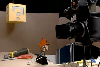 Behind The Scenes Of A Stop Motion Commerical For Nintendo's Paper Mario