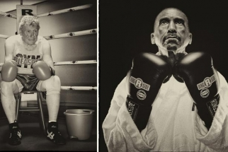 """Punching Back Time"" Photographs Of Senior Boxers"