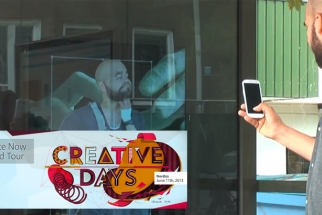 #CreativeDay Retouches Bus Patrons in Real Time, On the Street