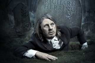 BTS: Comedian Richard Herring's Creepily Dark Comedy Poster Shoot