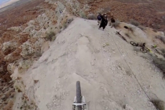 This GoPro Video Of A Biker Going Down A Ridge Line Will Leave Your Palms Sweaty