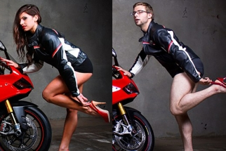 All Male Motorcycle Dealership Mocks Adverts With Their Own Sexy Photoshoot